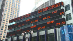 HD2008-8-19-9 TL stock ticker Times square Stock Video Footage