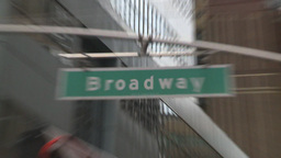 HD2008-8-19-17 Times square broadway street sign snap zooms Stock Video Footage
