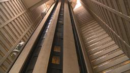 HD2008-8-19-25 indoor glass elevators Stock Video Footage