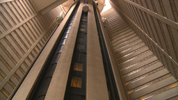HD2008-8-19-25 indoor glass elevators Stock Video Footage