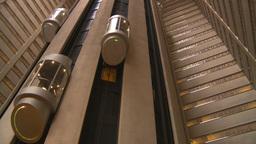 HD2008-8-19-27 indoor glass elevators Stock Video Footage
