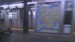 HD2008-8-19-33 NYC subway Stock Video Footage