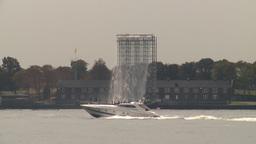 HD2008-8-19-39 art waterfall superboat Stock Video Footage