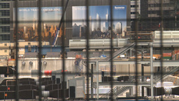 HD2008-8-19-45 WTC rack focus to fence Stock Video Footage