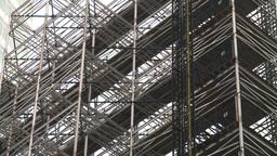 HD2008-8-19-49 NYC construction site lattice Stock Video Footage