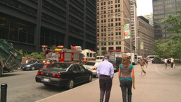 HD2008-8-19-57 NYC fdny truck respond Stock Video Footage