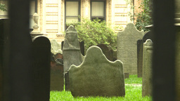 NYC trinity church cemetary Stock Video Footage
