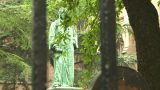 Cemetery Statue stock footage