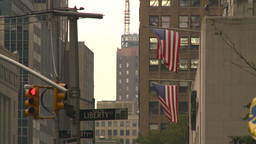 US flags Stock Video Footage