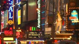 NYC night times square Footage
