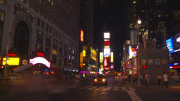 NYC night times square Stock Video Footage
