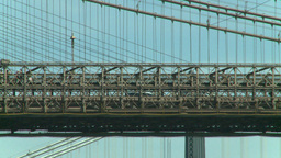 NYC bridge Stock Video Footage