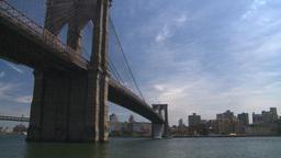 NYC Brooklyn bridge Stock Video Footage