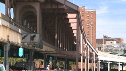 NYC elevated road Stock Video Footage