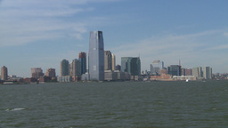 NYC ferry ride look at Jersey city Footage