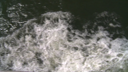NYC ferry ride wake Stock Video Footage