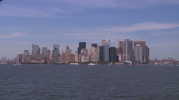 NYC ferry ride NY skyline Footage