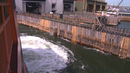 NYC ferry ride coming into terminal Footage