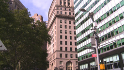 NYC people on street to Bdg Stock Video Footage