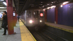 NYC subway station Stock Video Footage