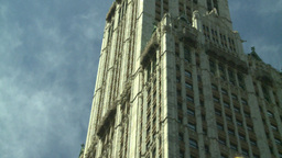 NYC skyscraper gothic arch Stock Video Footage