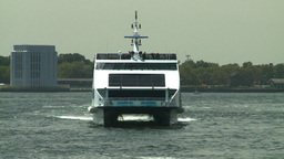 NYC catamaran ferry Footage
