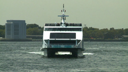 NYC catamaran ferry Stock Video Footage