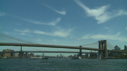 NYC bridges and boats Footage