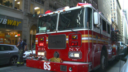 HD2008-8-24-18 FDNY fire truck Stock Video Footage