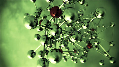 Abstract Molecular Structure with spinning camera Stock Video Footage