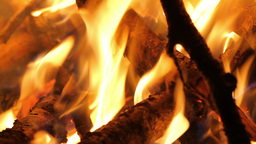 Camp Fire, Detail Stock Video Footage