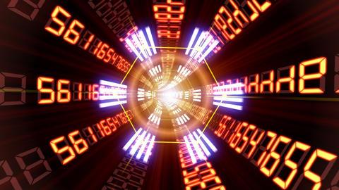 Data tunnel Fb HD Stock Video Footage