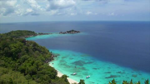 similan islands perfect beach from top Footage