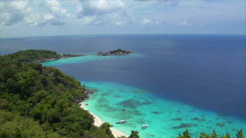similan islands perfect beach from top Stock Video Footage