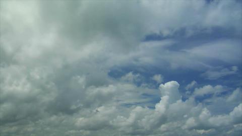 time lapse cloud at rain season Stock Video Footage