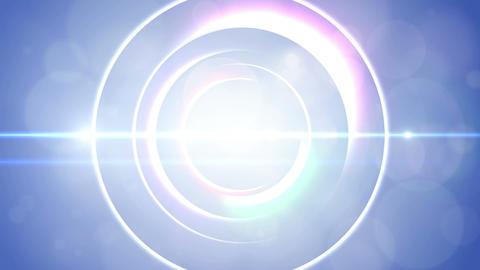 Opening intro Flash light flare W 2 blue Short 4k Animation