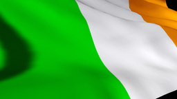 3d Render of the Irish Flag Footage