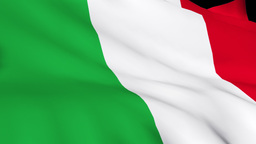 3d Render of the Italian Flag 2 Footage