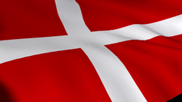 Danish Flag in 3d Footage