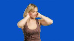 Chromakey footage of woman enjoys dancing Footage