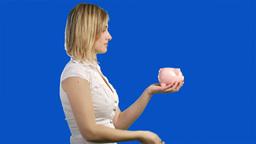 Chromakey saving money Footage