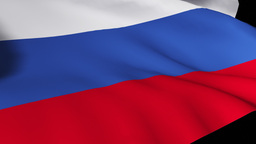 Russian Flag Footage