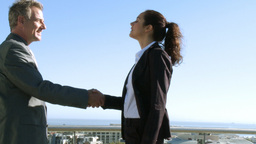 Businesspeople shaking hands Footage