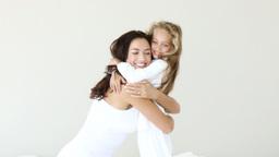 Mother huging her daughter Footage