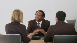 Businessman talking with his associates Footage