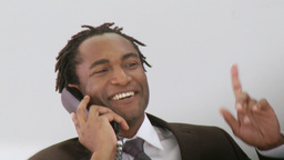 Businessman on his phone Footage