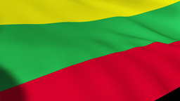 Lithuania Flag Isolated Footage