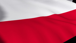National Flag of Poland Footage