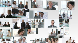 Montage of Business footage Footage