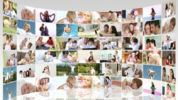 Family footage collage in HD Footage